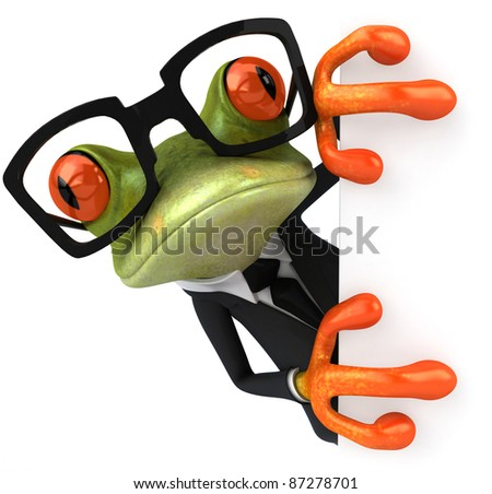 Cool frog - stock photo
