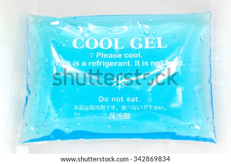 Cool Gel isolated in a food box container Stock photo ©