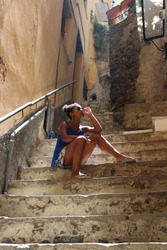 Cool girl in Italy