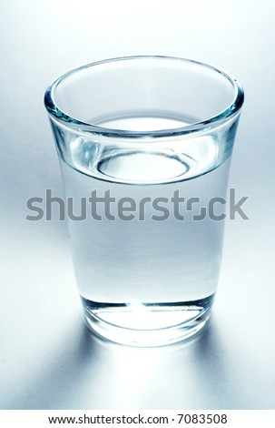 cool glass of water - stock photo