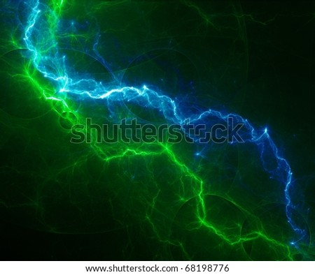 cool green and blue lightning