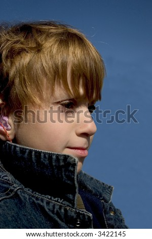 Cool Guy in Jean jacket with collar up