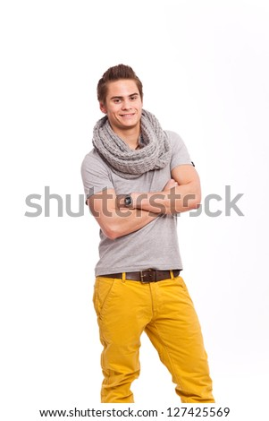 cool guy in yellow pants