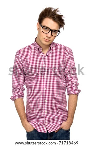 Cool guy wearing glasses
