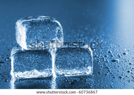 cool ice cube background with copyspace for a text message