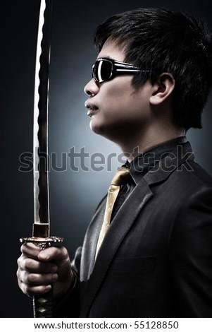 Cool japanese with samurai sword fashion.