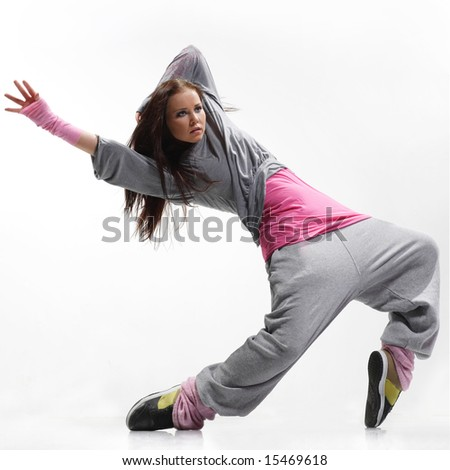 Hip Hop Dance Group Poses Hip-hop dancer posing on