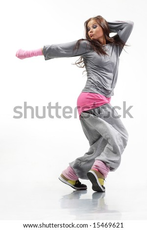 Cool Hip Hop Dance Poses Hip-hop dancer posing on