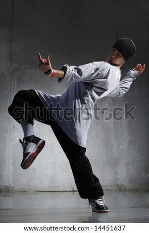Cool Hip Hop Dance Poses Cool looking hip-hop dancer