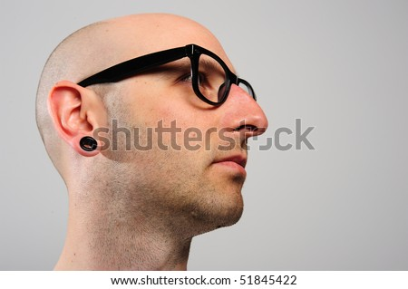 cool man with glasses