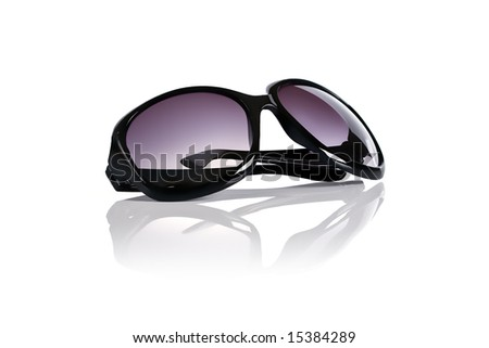 Cool retro sunglasses isolated on white - stock photo