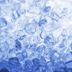 cool summer or winter ice cube background with copyspace
