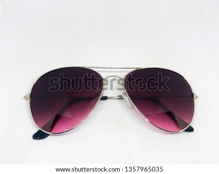 Cool sunglasses isolated on white background, top view. #1357965035