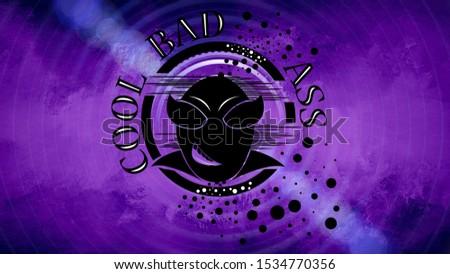 Cool wallpaper, desktop wallpaper, 4k wallpaper, bad ass, purple
