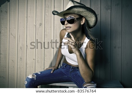 Cool young cowgirl