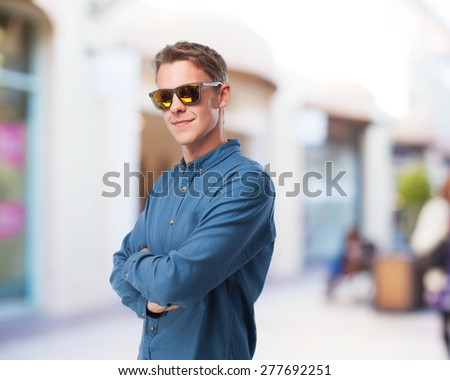 cool young-man with sunglasses #277692251