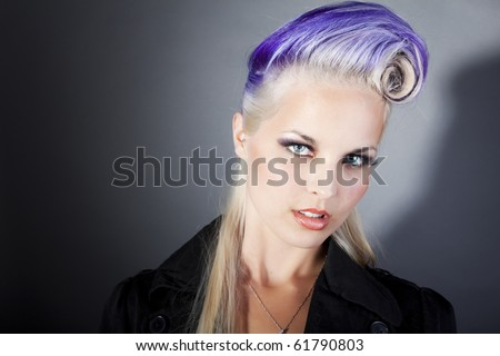 cool hairstyles for women. stock photo : cool young women