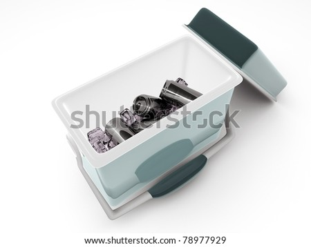 coolbox isolated on white background
