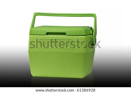 Cooler green on a white background