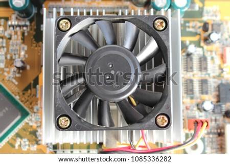 Cooling fan on printed circuit board