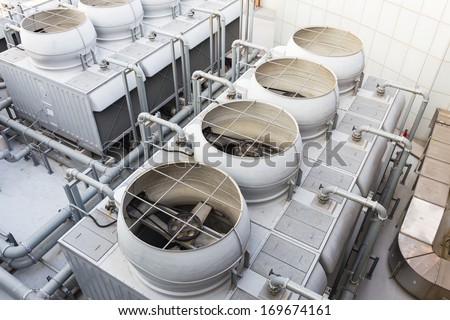 Cooling tower at outdoor Stock photo ©