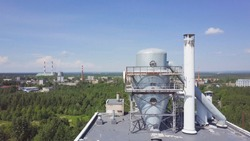 Cooling tower on the roof floor, Cooling system. Chiller water cool and old dirty and barbed. Field erected cooling tower