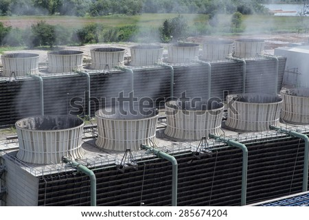Cooling tower power plant #285674204