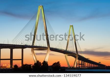 Cooper River Arthur Ravenel Jr. Bridge in Charleston South Carolina