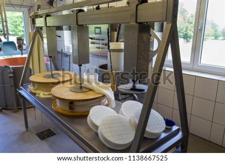 Cooper tank for cheese production, cheese making equipment for cheese production