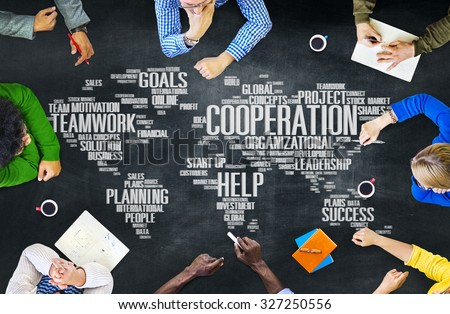 Cooperation Business Coworker Planning Teamwork Concept