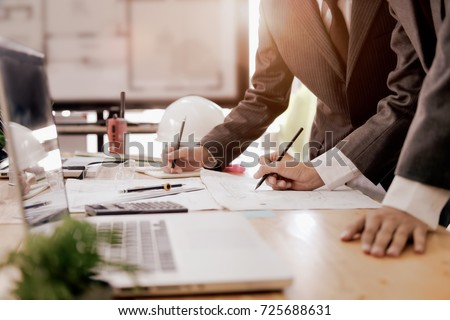 Cooperation Corporate Achievement Planning Design Draw Teamwork. Business Corporation Organization Teamwork Concept #725688631