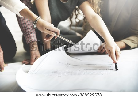 Cooperation Corporate Achievement Planning Design Draw Teamwork Concept stock photo