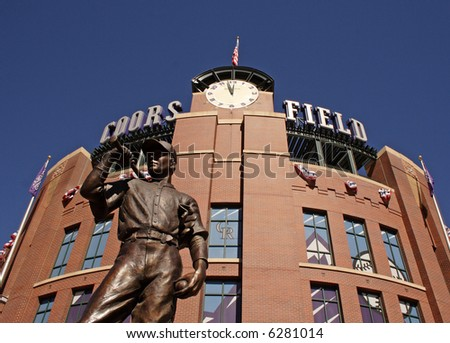 Coors field statue in denver, colorado