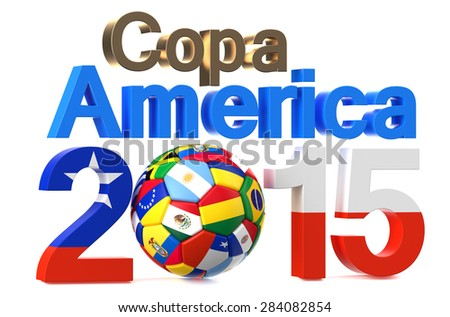 Shutterstock Copa America 2015 concept isolated on white background