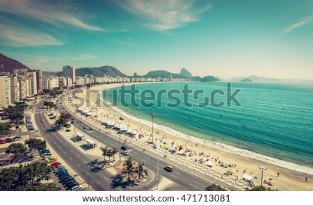 copacabana beach and sugar loaf ...