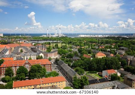 Copenhagen, a city view. Denmark