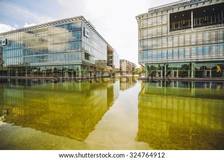 COPENHAGEN, DENMARK - AUGUST 01, 2015: Modern architecture in Copenhagen, Denmark