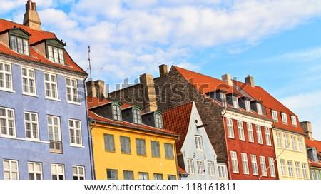Copenhagen, Denmark - buildings of Nyhavn street