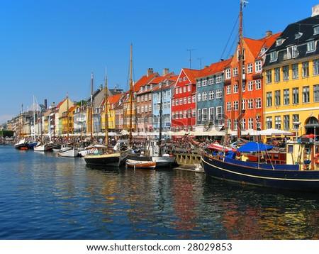 Copenhagen, Nyhavn - stock photo