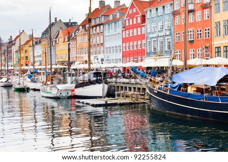 COPENHAGEN - SEPTEMBER, 10: Nyhavn is a 17th century waterfront, canal and entertainment district. It was constructed by King Christian V from 1670-73 in Copenhagen on September 10, 2011