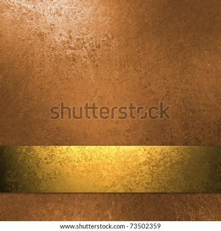copper and gold colored background with grunge texture, elegant ribbon stripe layout and design, soft lighting, and copy space to add your own text or title