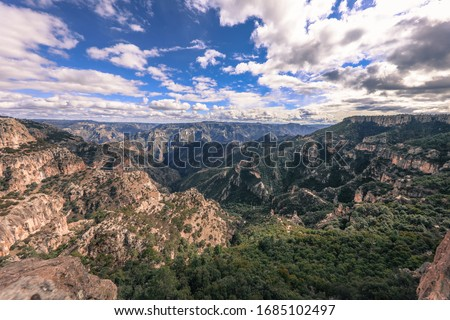 Copper Canyon (Barrancas del Cobre) Sierra Madre Occidental, Chihuahua, Mexico. Foto stock ©