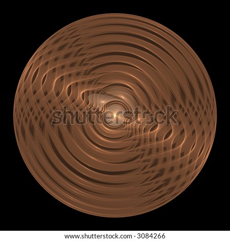Copper Coin / Frisbee Fractal (Abstract)