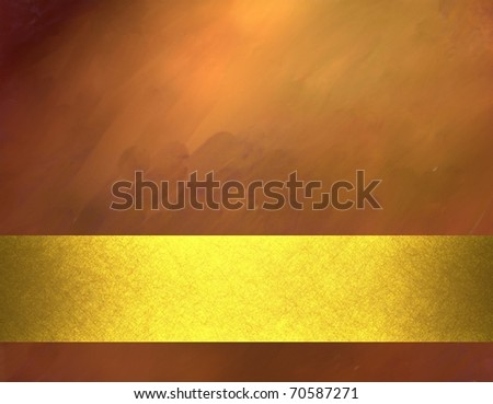 copper colored background with sunny highlights, smeary grunge texture with soft lighting, oil painting feeling, metallic gold stripe layout design, and copy space to add own text, title, or image