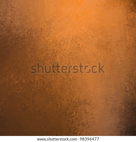 copper colored orange background with black edging and vintage grunge texture in graffiti style smeared paint with copy space for ad or brochure for Thanksgiving or Halloween or autumn layout designs