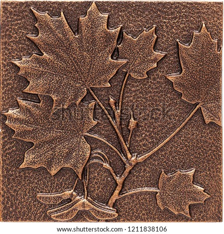 Copper Maple Leaf Wall Decor or Wall Sculptures