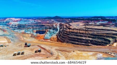 Copper mine open pit Atalaya Rio Tinto. Spain.