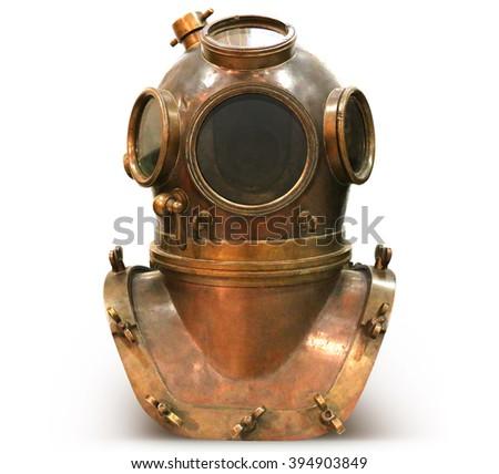 copper old vintage deep sea...