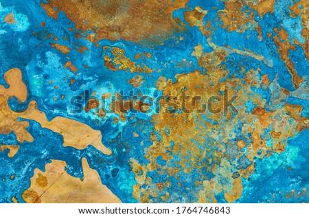 Copper oxide such as sea and land Foto d'archivio ©