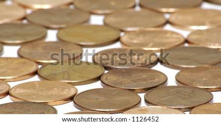 Copper Pennies Background
